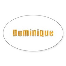 Dominique Beer Oval Decal