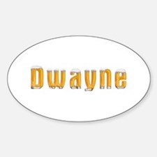 Dwayne Beer Oval Decal