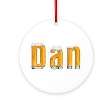 Dan Beer Round Ornament