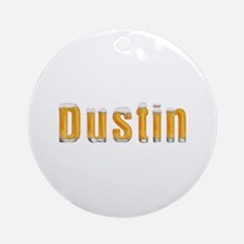 Dustin Beer Round Ornament