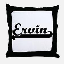 Black jersey: Ervin Throw Pillow