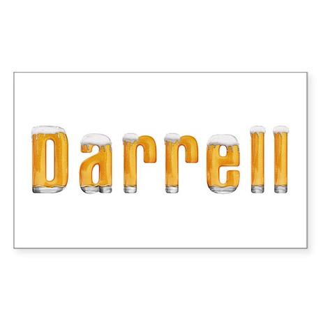 Darrell Beer Rectangle Sticker