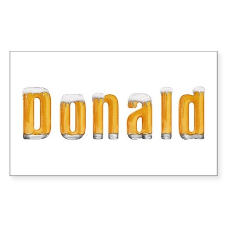 Donald Beer Rectangle Sticker