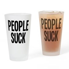People Suck Drinking Glass