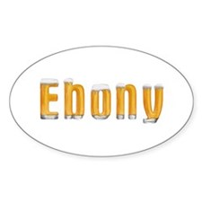 Ebony Beer Oval Decal