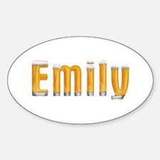Emily Beer Oval Decal