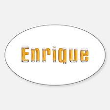 Enrique Beer Oval Bumper Stickers