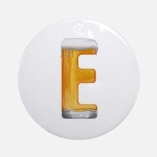 E Beer Round Ornament