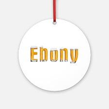 Ebony Beer Round Ornament