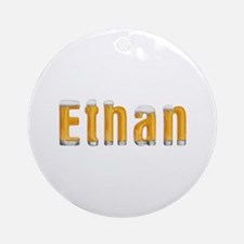 Ethan Beer Round Ornament