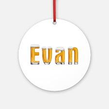 Evan Beer Round Ornament