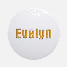 Evelyn Beer Round Ornament