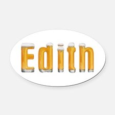 Edith Beer Oval Car Magnet
