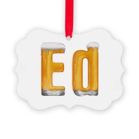 Ed Beer Picture Ornament