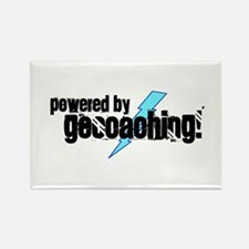 Powered By Geocaching Rectangle Magnet