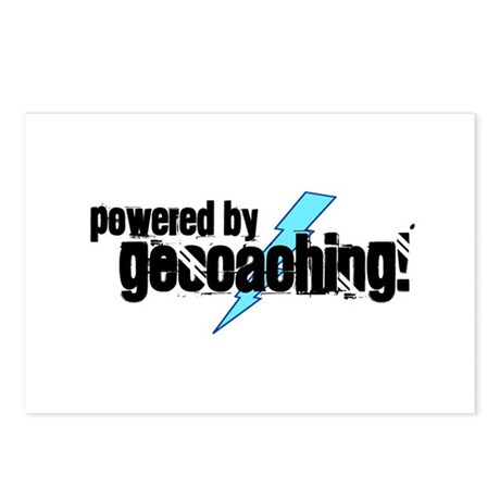 Powered By Geocaching Postcards (Package of 8)