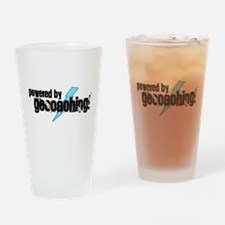 Powered By Geocaching Drinking Glass