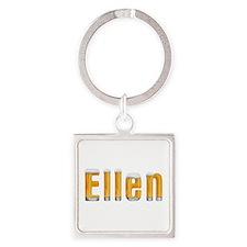 Ellen Beer Square Keychain