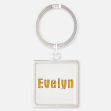 Evelyn Beer Square Keychain
