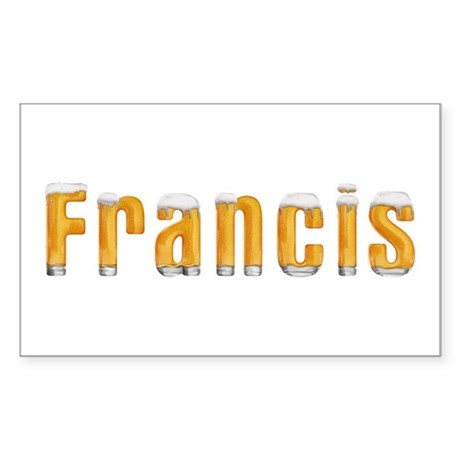 Francis Beer Rectangle Sticker