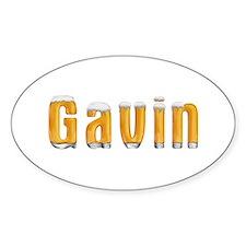 Gavin Beer Oval Decal