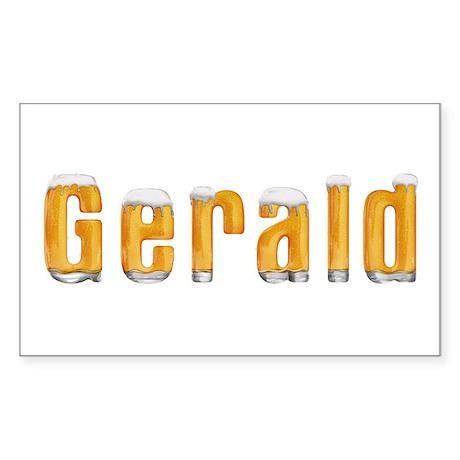 Gerald Beer Rectangle Sticker