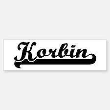 Black jersey: Korbin Bumper Bumper Bumper Sticker