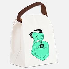 Vintage Green Sunbeam Mixmaster Canvas Lunch Bag