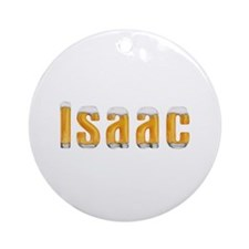 Isaac Beer Round Ornament