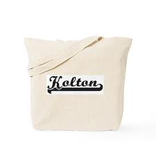Black jersey: Kolton Tote Bag