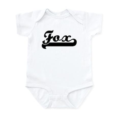 Black jersey: Fox Infant Bodysuit