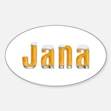 Jana Beer Oval Decal