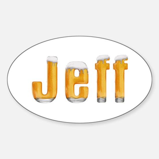 Jeff Beer Oval Decal