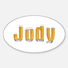 Jody Beer Oval Decal