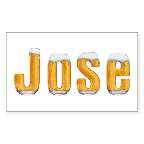 Jose Beer Rectangle Sticker