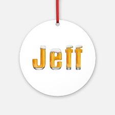Jeff Beer Round Ornament