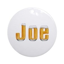 Joe Beer Round Ornament