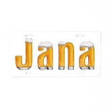 Jana Beer Aluminum License Plate