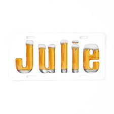 Julie Beer Aluminum License Plate