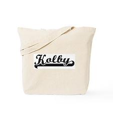 Black jersey: Kolby Tote Bag