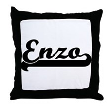 Black jersey: Enzo Throw Pillow