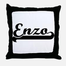 Black jersey: Enzo Throw Pillow