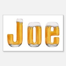 Joe Beer Rectangle Decal