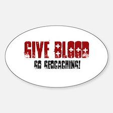 Give Blood! Sticker (Oval)