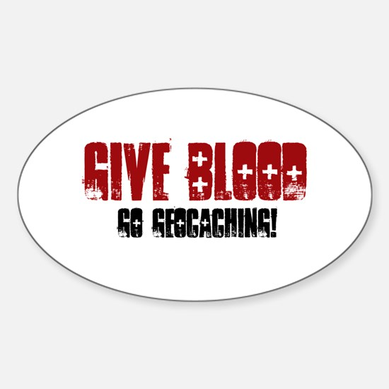 Give Blood! Sticker (Oval)