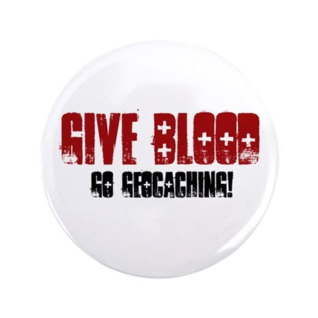 """Give Blood! 3.5"""" Button"""