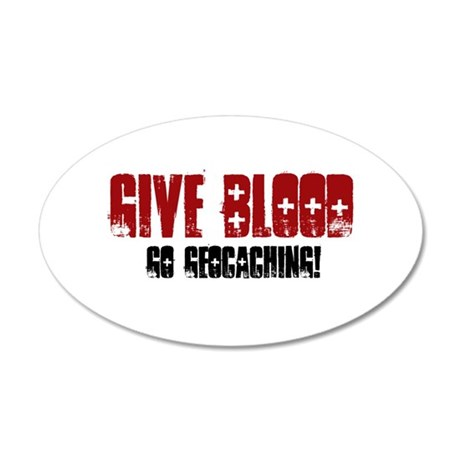 Give Blood! 20x12 Oval Wall Decal