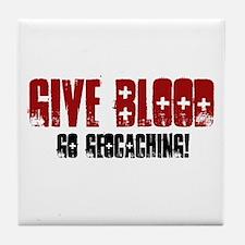 Give Blood! Tile Coaster
