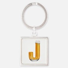 J Beer Square Keychain