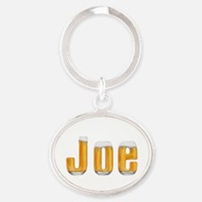 Joe Beer Oval Keychain